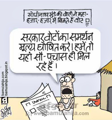 voter, election 2014 cartoons, election cartoon, corruption in india, note for vote scam, indian political cartoon