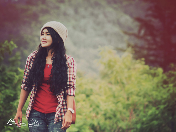 konsep foto model casual vintage outdoor