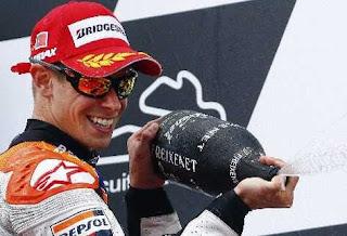 MOTO GP-Por primera vez Stoner es el más rápido en Portugal