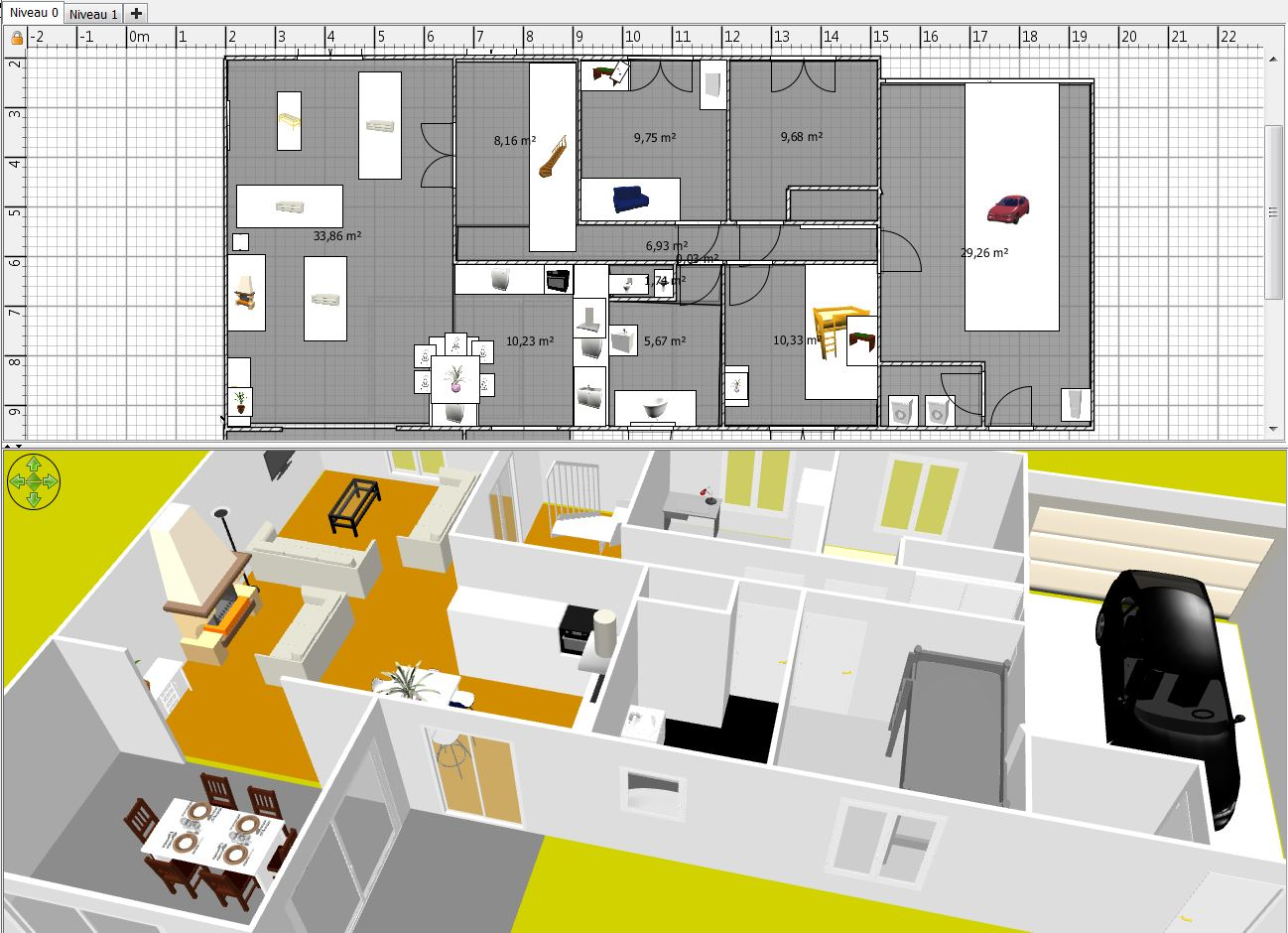 Cr ation plan maison gratuit for Interieur 3d