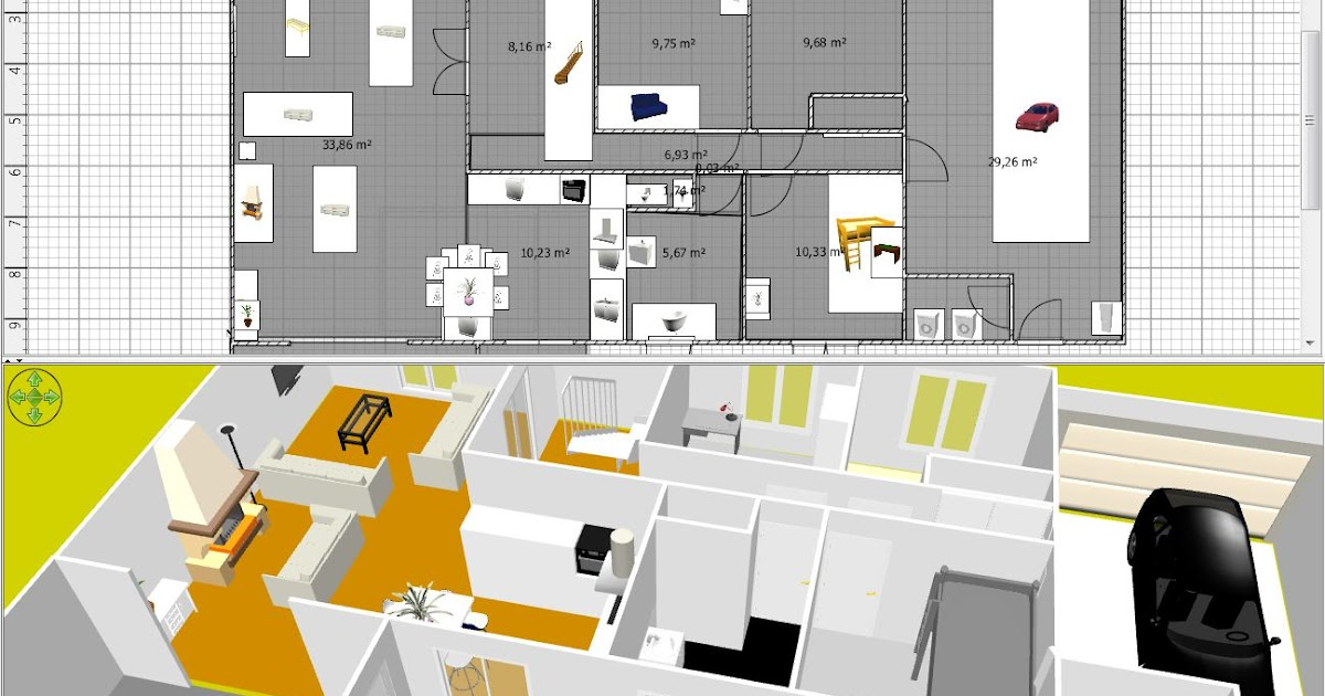 Cr ation plan maison gratuit for Logiciel creation maison 3d