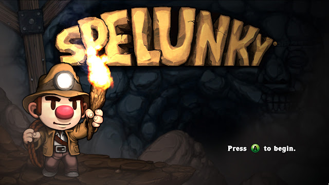 Spelunky HD PC title screen logo