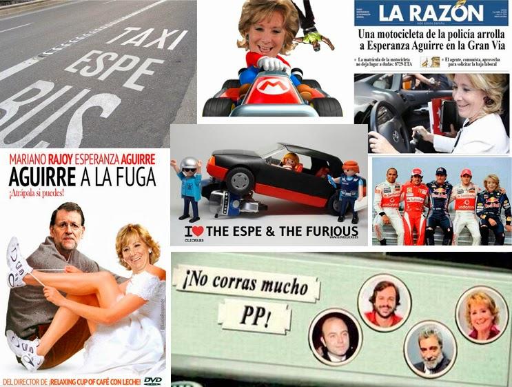 Esperanza Aguirre arrolla a una moto y se da a la fuga