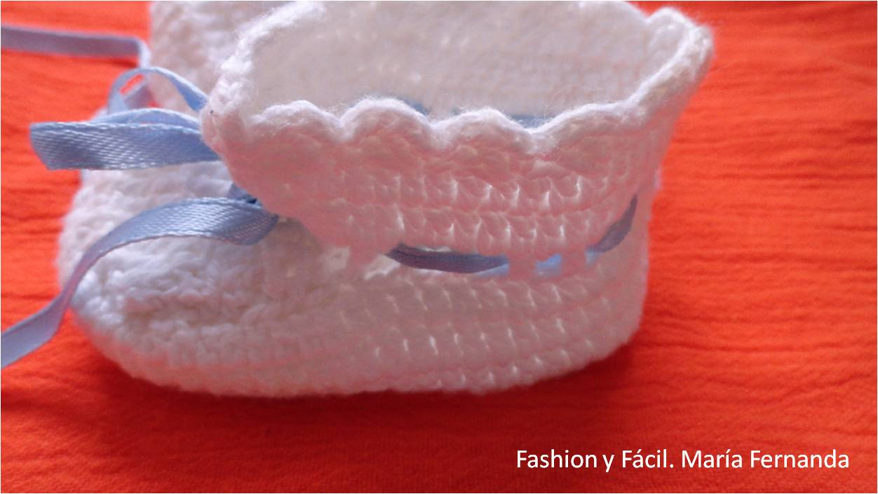 Fashion y Fácil DIY: Escarpines de crochet para bebe (Baby ...