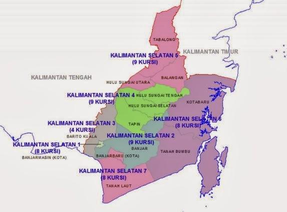 Daftar caleg DPRD Provinsi Dapil 7 Kalsel