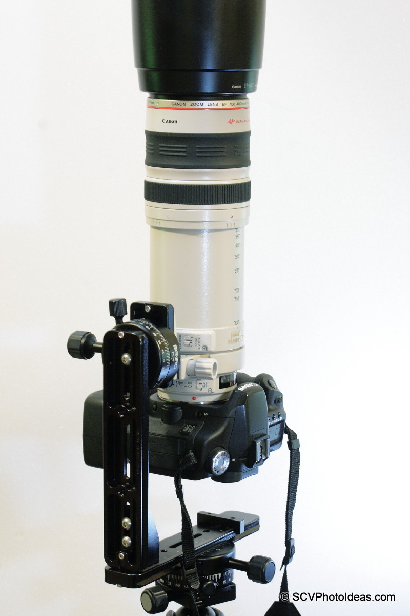 Canon EOS 50D / EF 100-400 L IS USM on Panorama Head Ver I vertical up