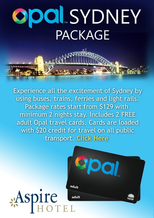 Metro Apartments on Darling Harbour & Aspire Hotel OPAL Explore Sydney Packages