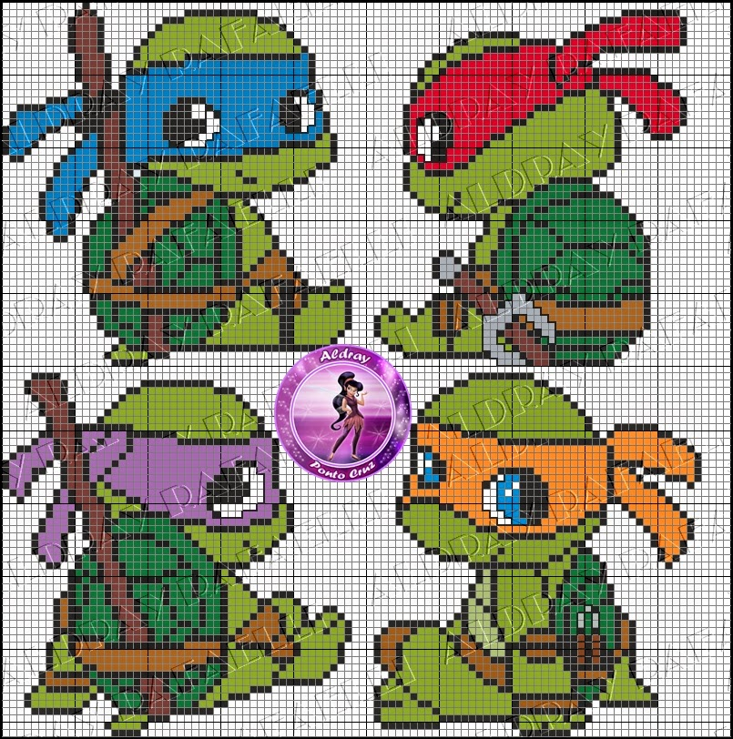 Baby Ninja Turtle Perler Bead Pattern