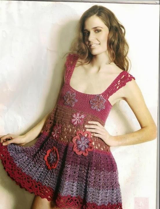 Vestido de verano a crochet