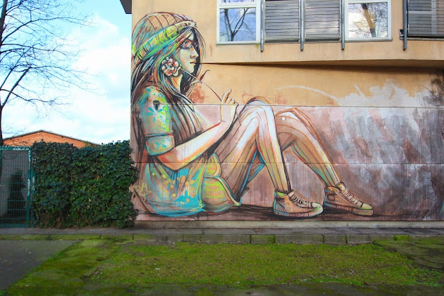 """Suspended"" a new mural by Italian street artist Alice on the streets of Berlin, Germany. 3"