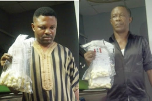 drug dealer ingest cocaine lagos