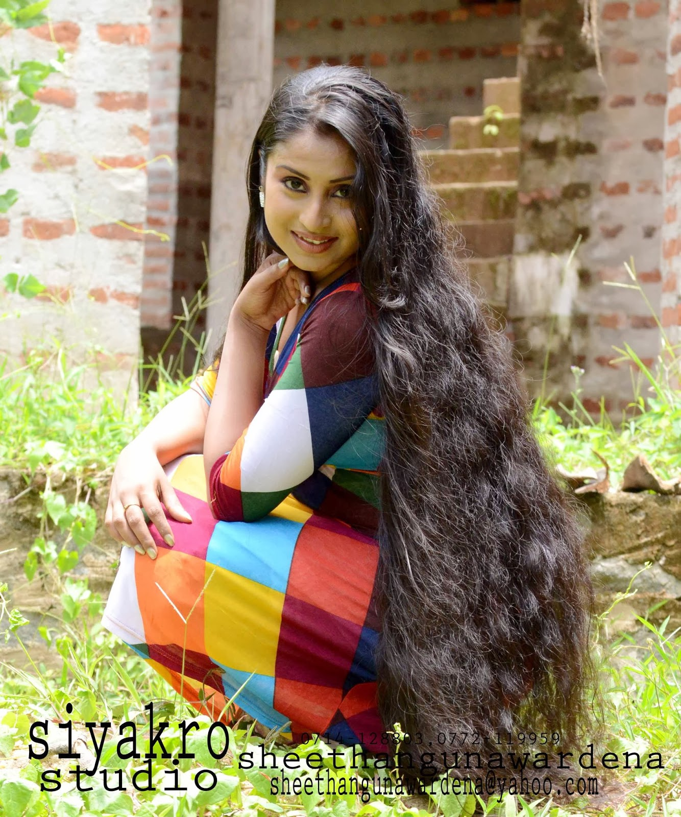 Gayathree Rajapaksa long hair