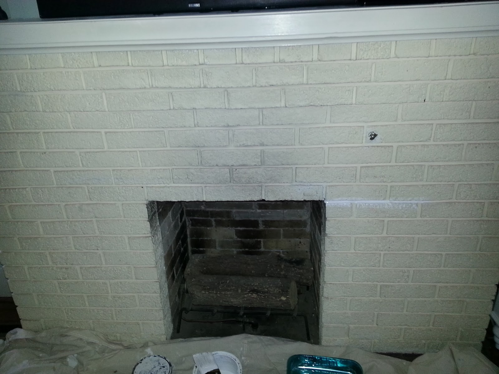 for the love of character painting the fireplace