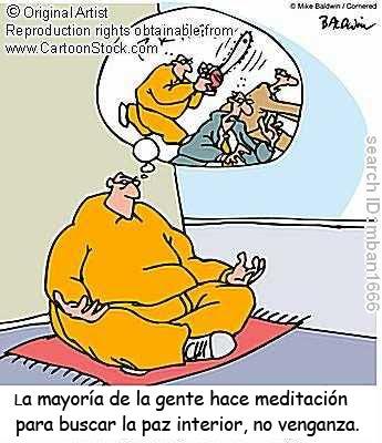 Viñeta sobre la meditación.