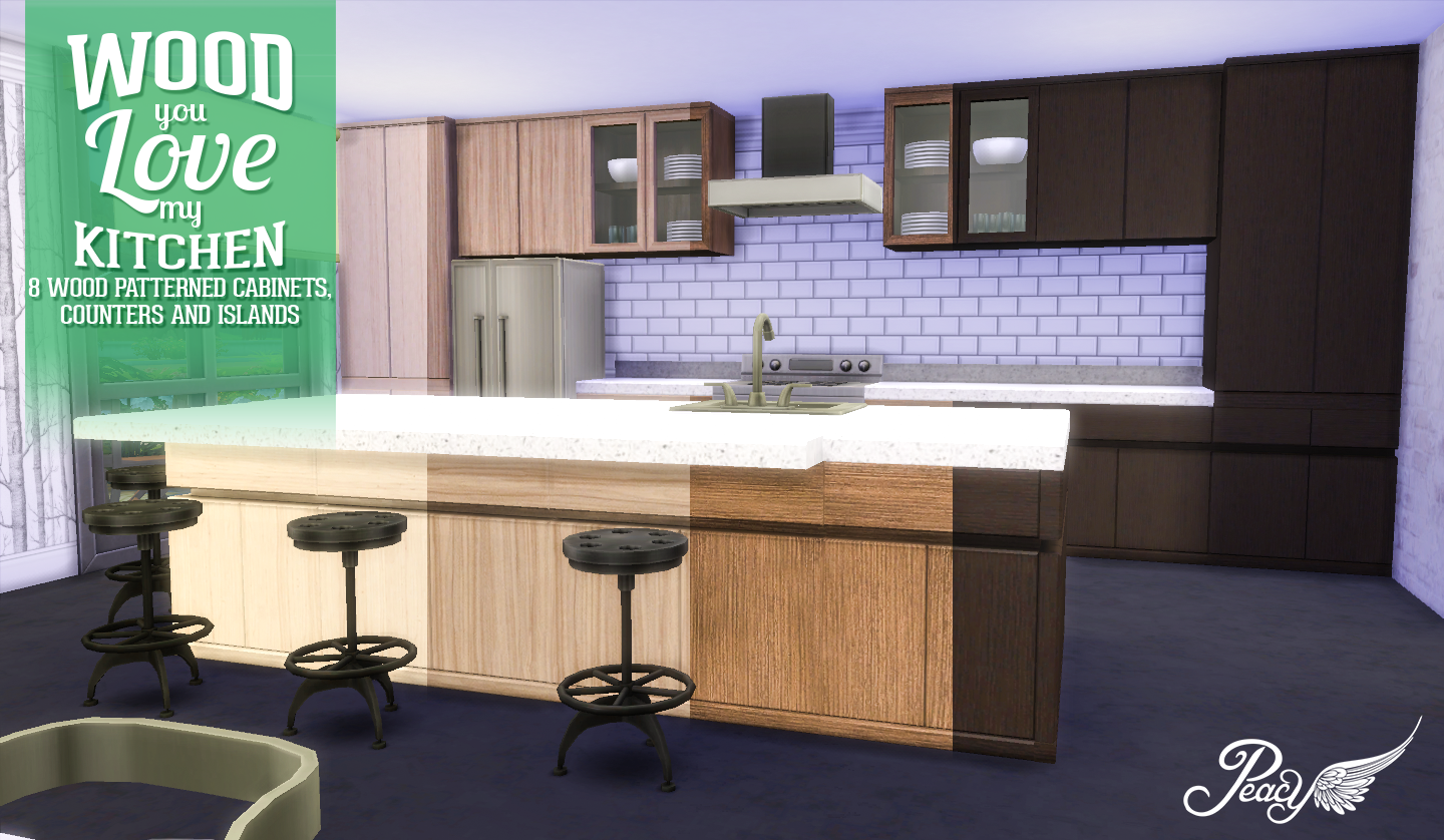 Simsational designs wood you love my kitchen for Kitchen ideas sims 4