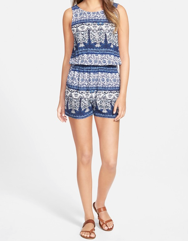Summer Rompers - One Clothing Print Romper