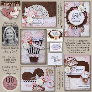 New!  Leather & Lace Card Kit