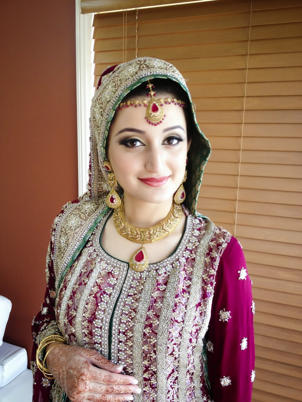 Indian Pakistani Middle Eastern Bridal Makeup Hair Style