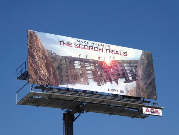 Maze Runner The Scorch Trials movie billboard