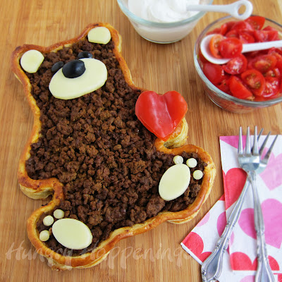 A valentine 39 s day dinner teddy bear taco tart hungry for Valentines dinner for kids