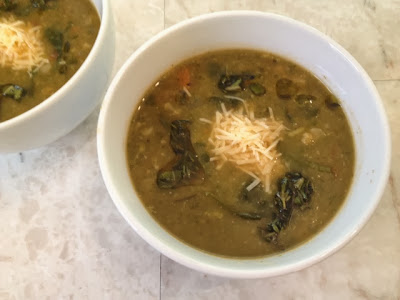 Vegetable-Bean Soup With Herb Infused Olive Oil Recipe