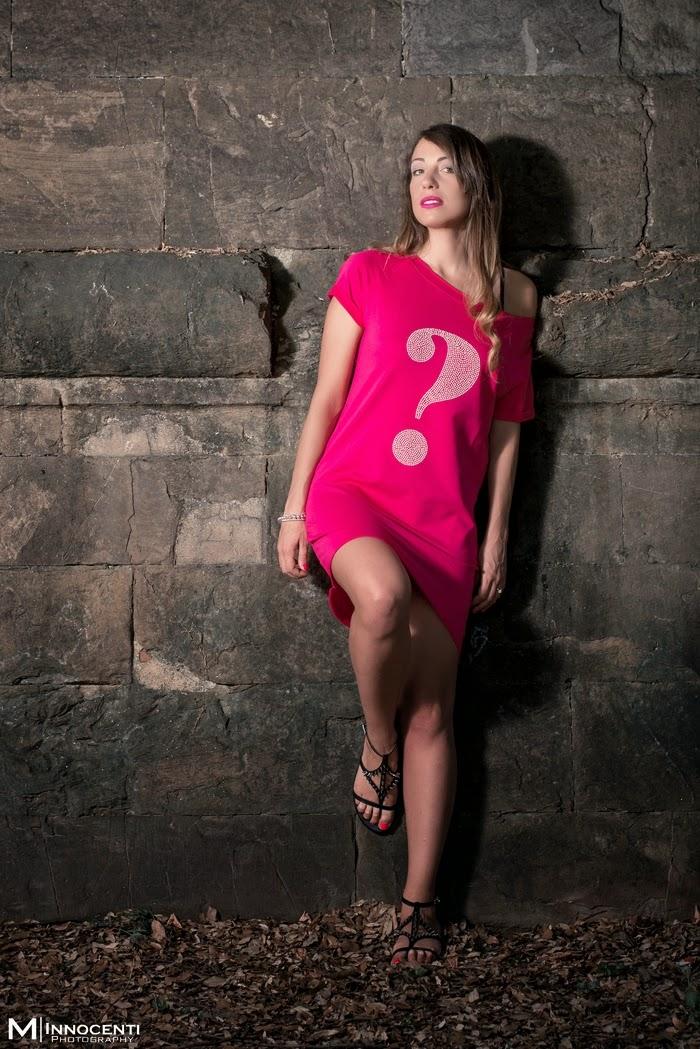 abito rosa fuxia