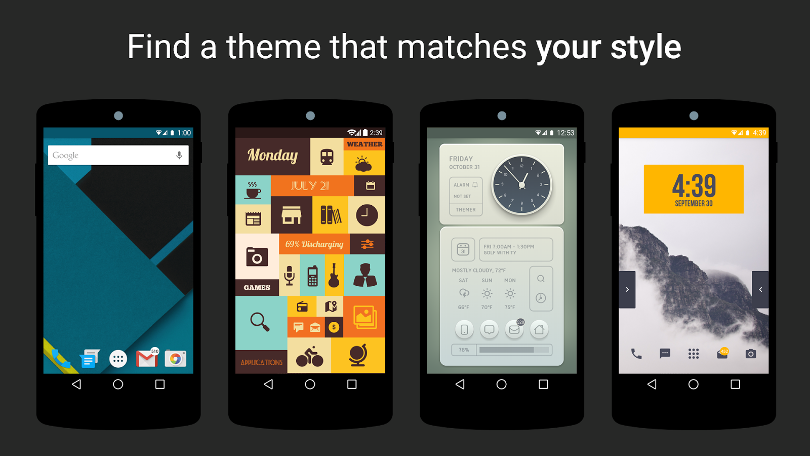 Themer: Android Launcher, HD Wallpaper