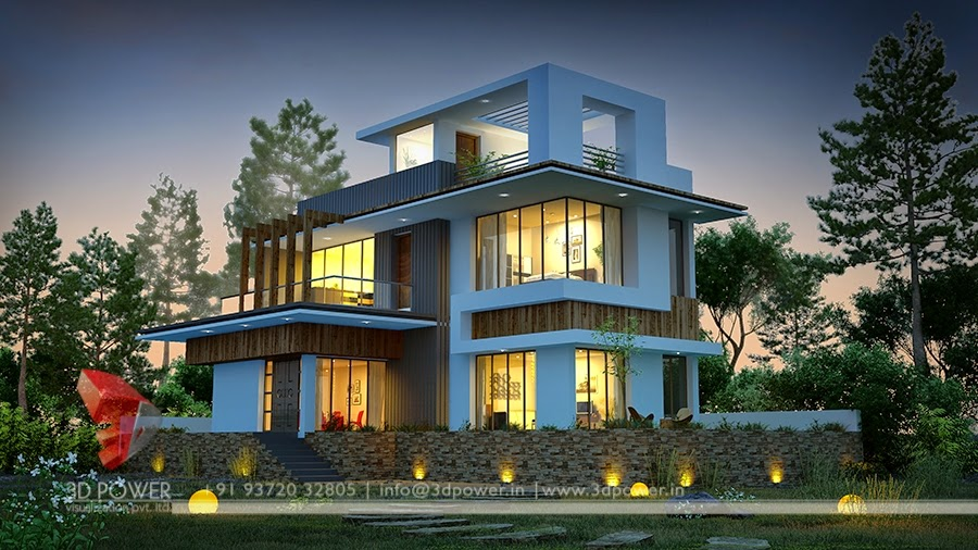 Architecture Design For Bungalow Villa In India