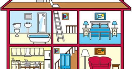 Partes de una casa en ingl s blog para aprender ingles for Living room y sus partes