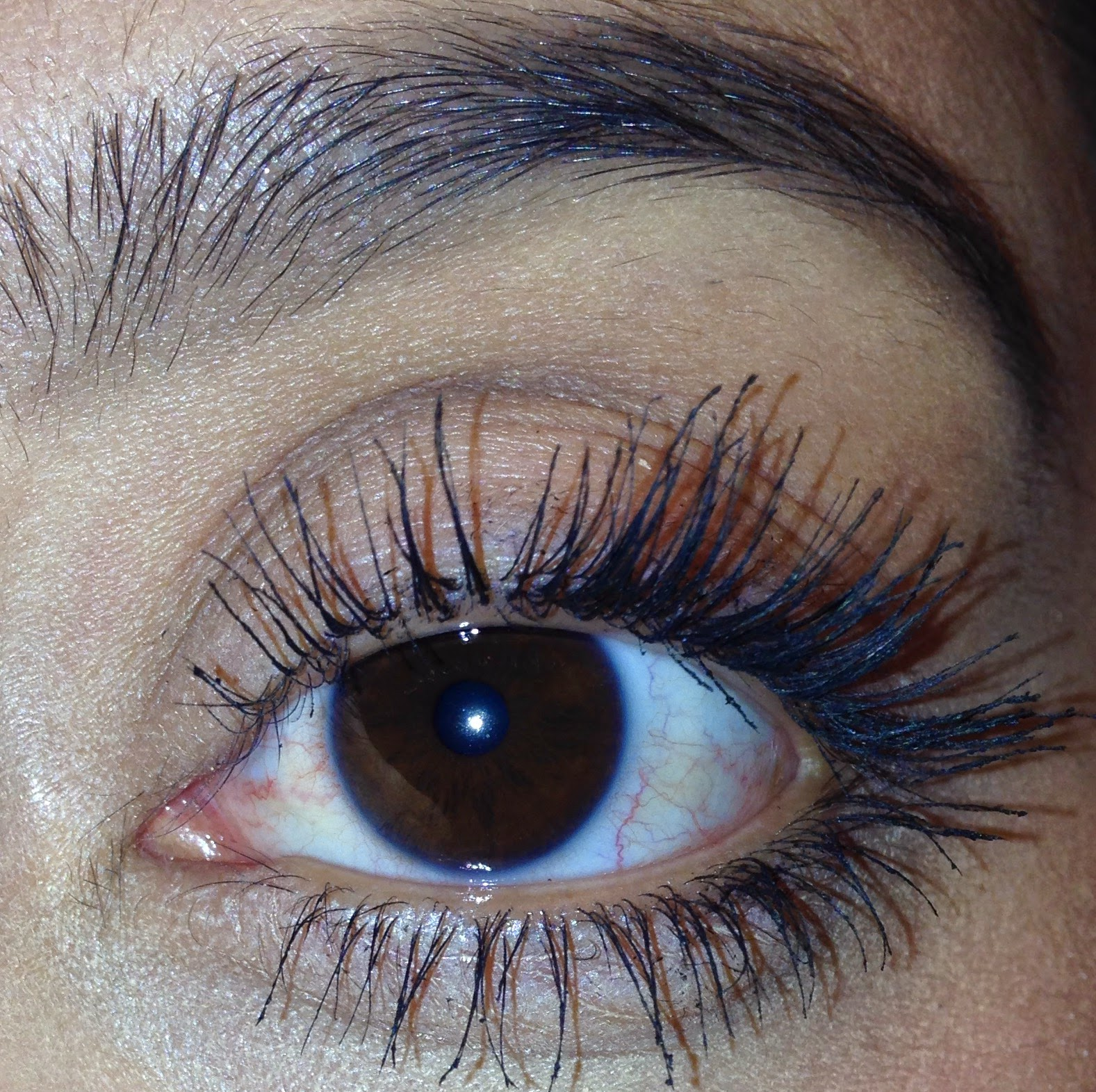 Mascara, baby powder and another coat of mascara