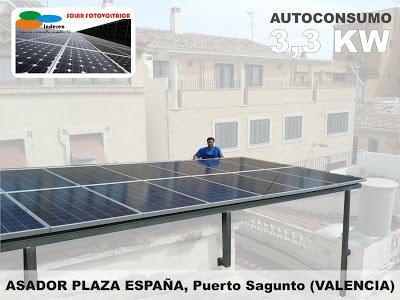 instalacion solar fotovoltaica autoconsumoen sagunto por inderen