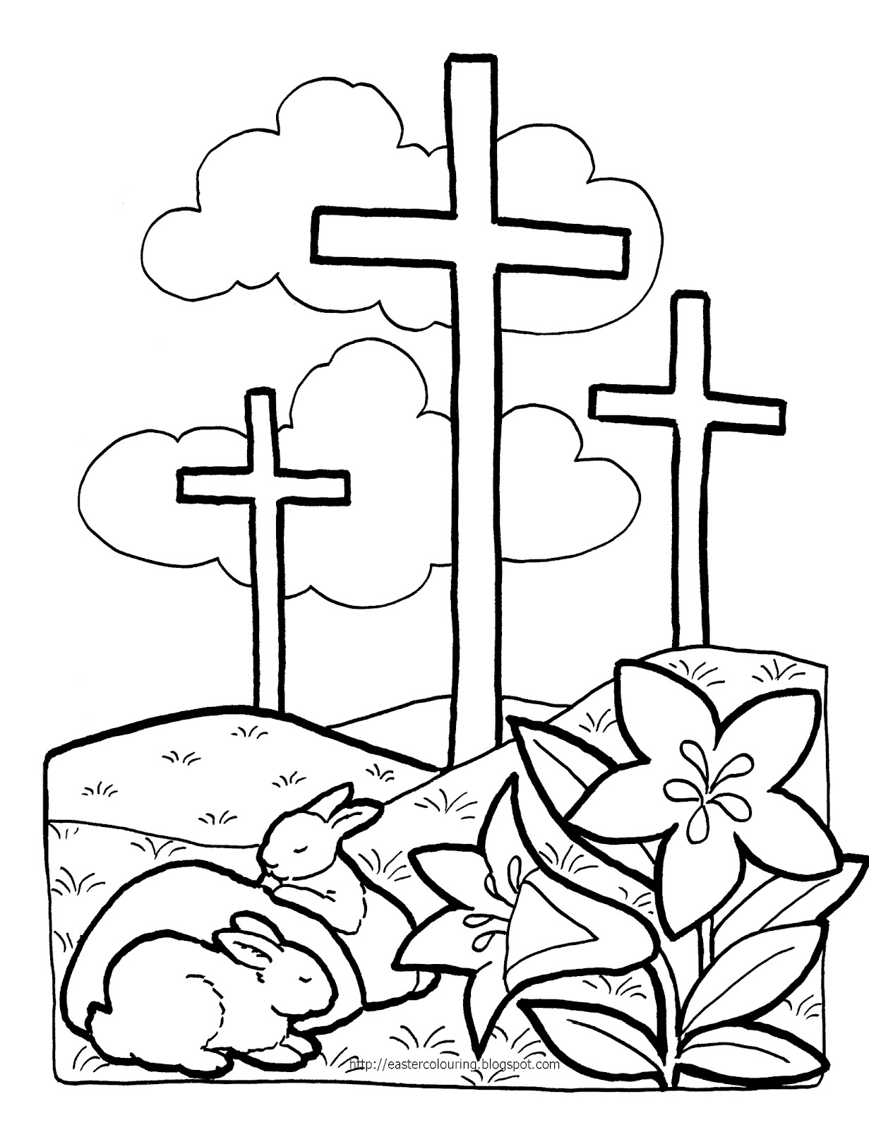 EASTER COLOURING RELIGIOUS COLORING PAGES