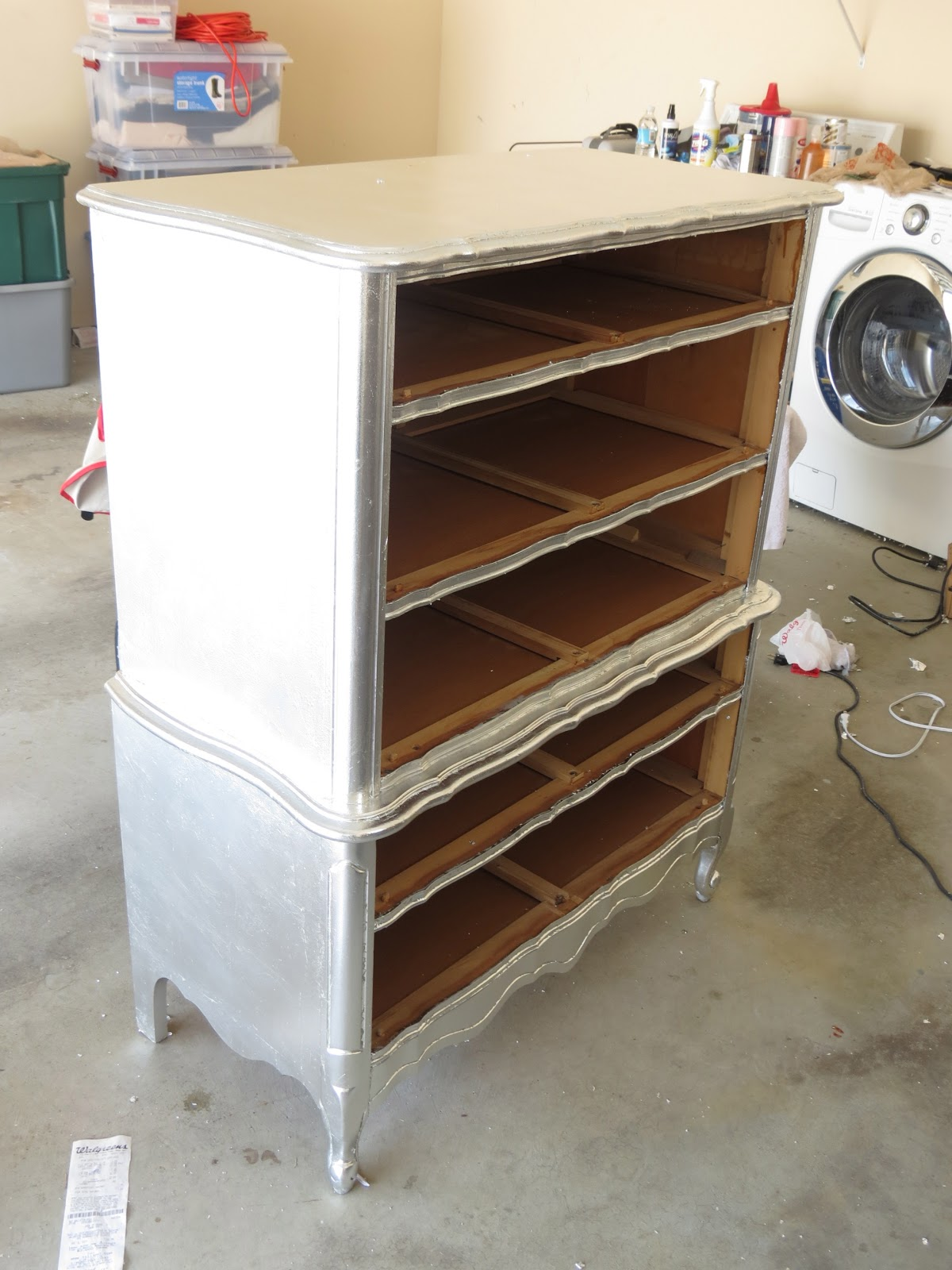 Aluminum (Silver) Leafed French Provincial Furniture... COMPLETED | DIY  Projects By Nina
