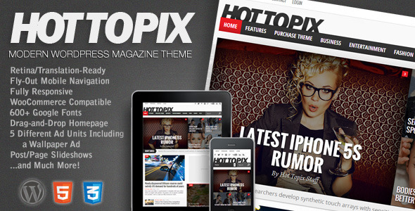 Hot Topix v2.1 - Modern Wordpress Magazine Theme