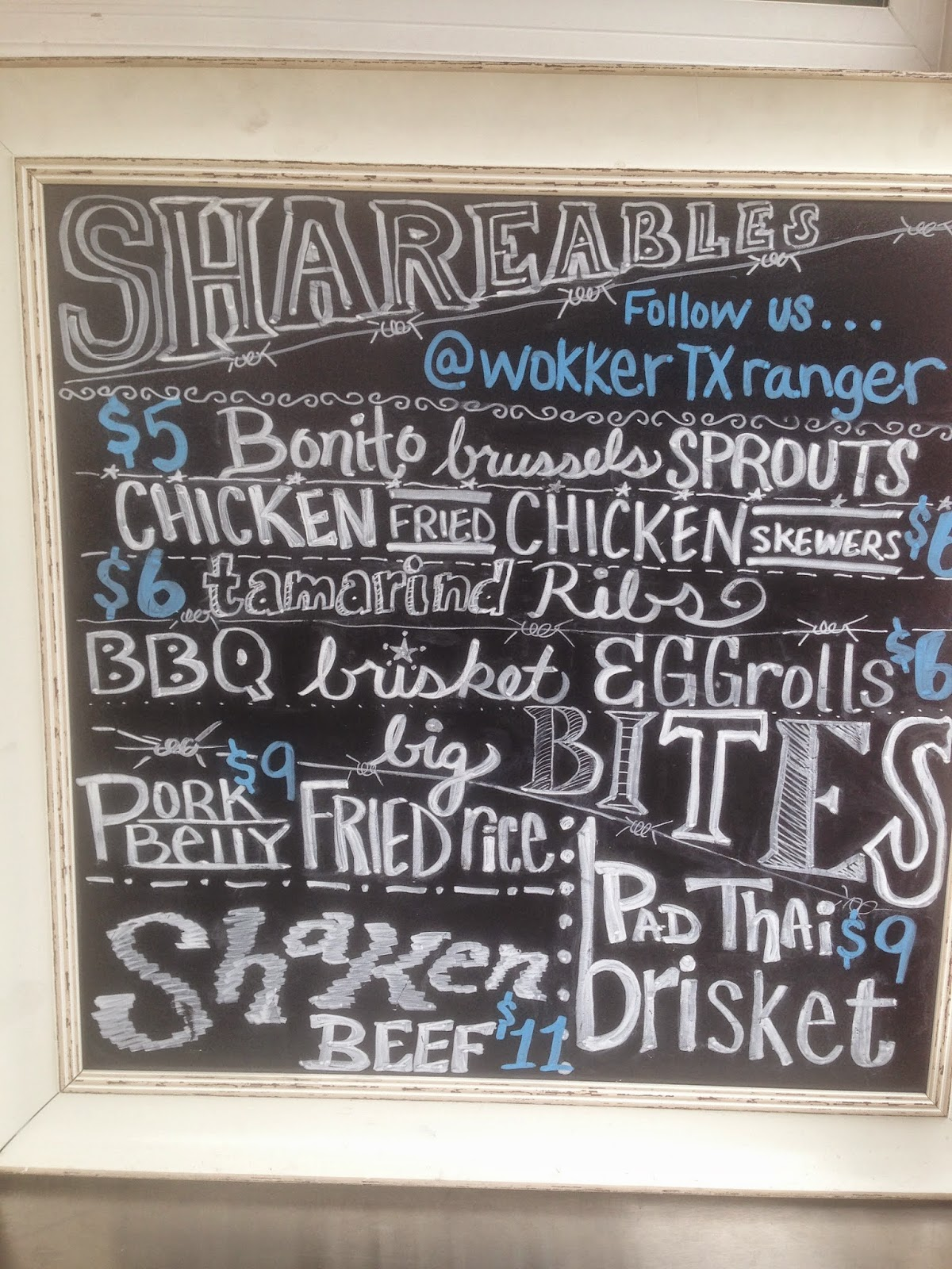 Wokker Texas Ranger Food Truck Houston TX Menu