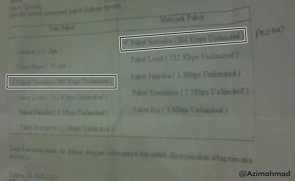 Tagihan Speedy, Paket Pascabayar Speedy, Speedy Telkom.