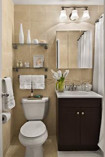 Apartamento pequeno móvel para banheiro