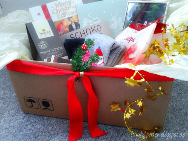 Funkelperlen.blogspot.de //Last Minute Geschenk mit Herz : Weihnachtliche Überraschungsbox für Lieblingsmenschen