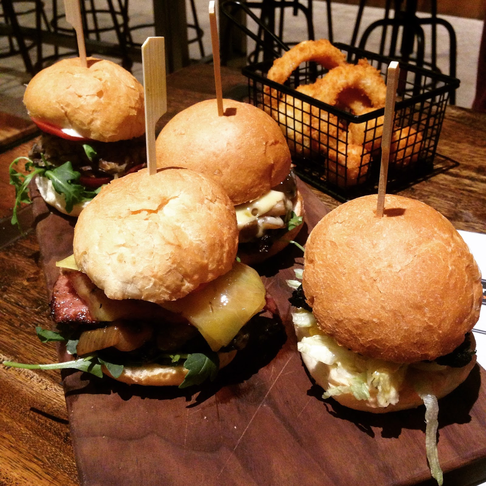 burger foundry, adelaide, food, burgers, torrensville, burgers, onion rings, tater tots, sliders