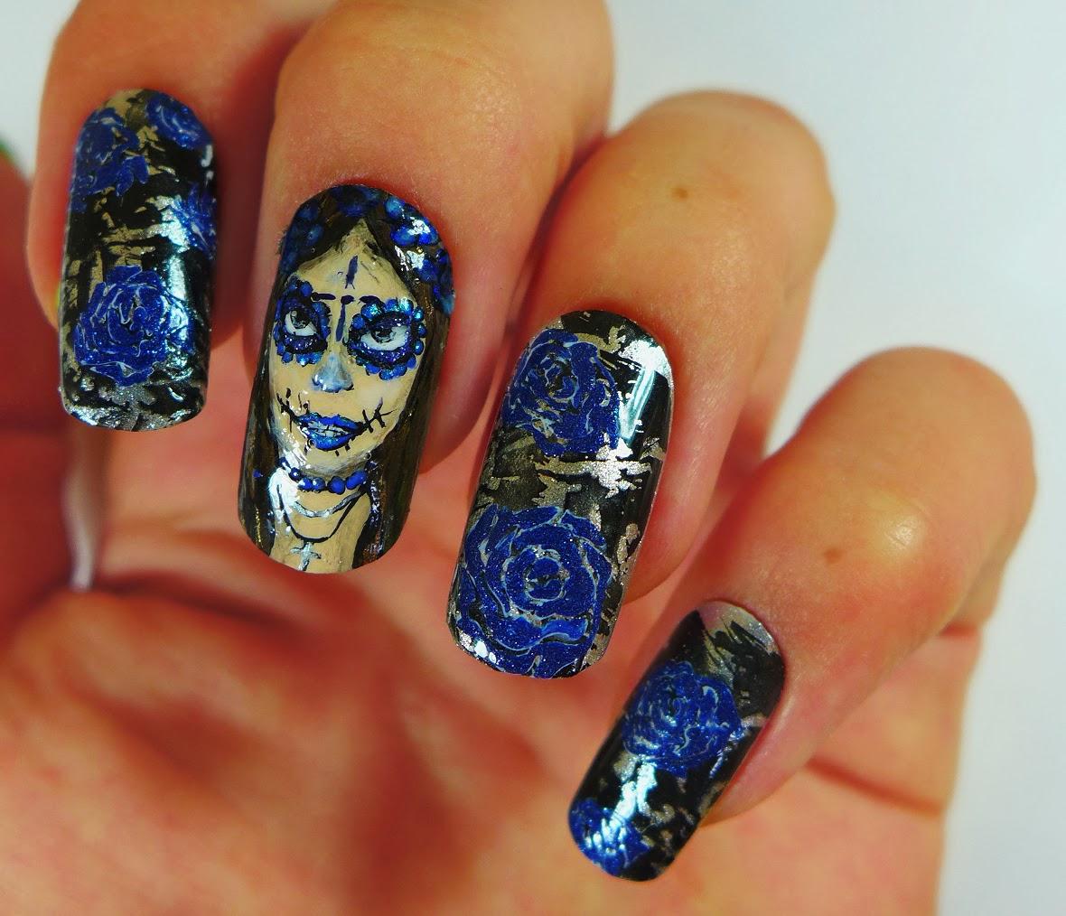 Brush me Blush: Dia de los Muertos Nails