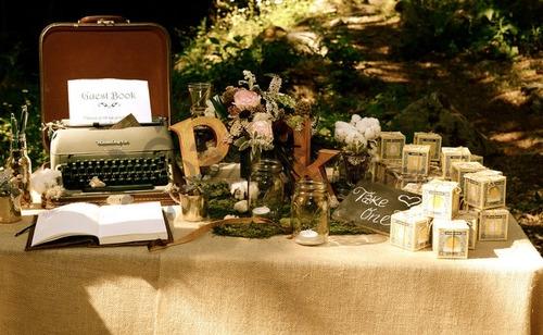 Máquina de escribir para un rincón de deseos