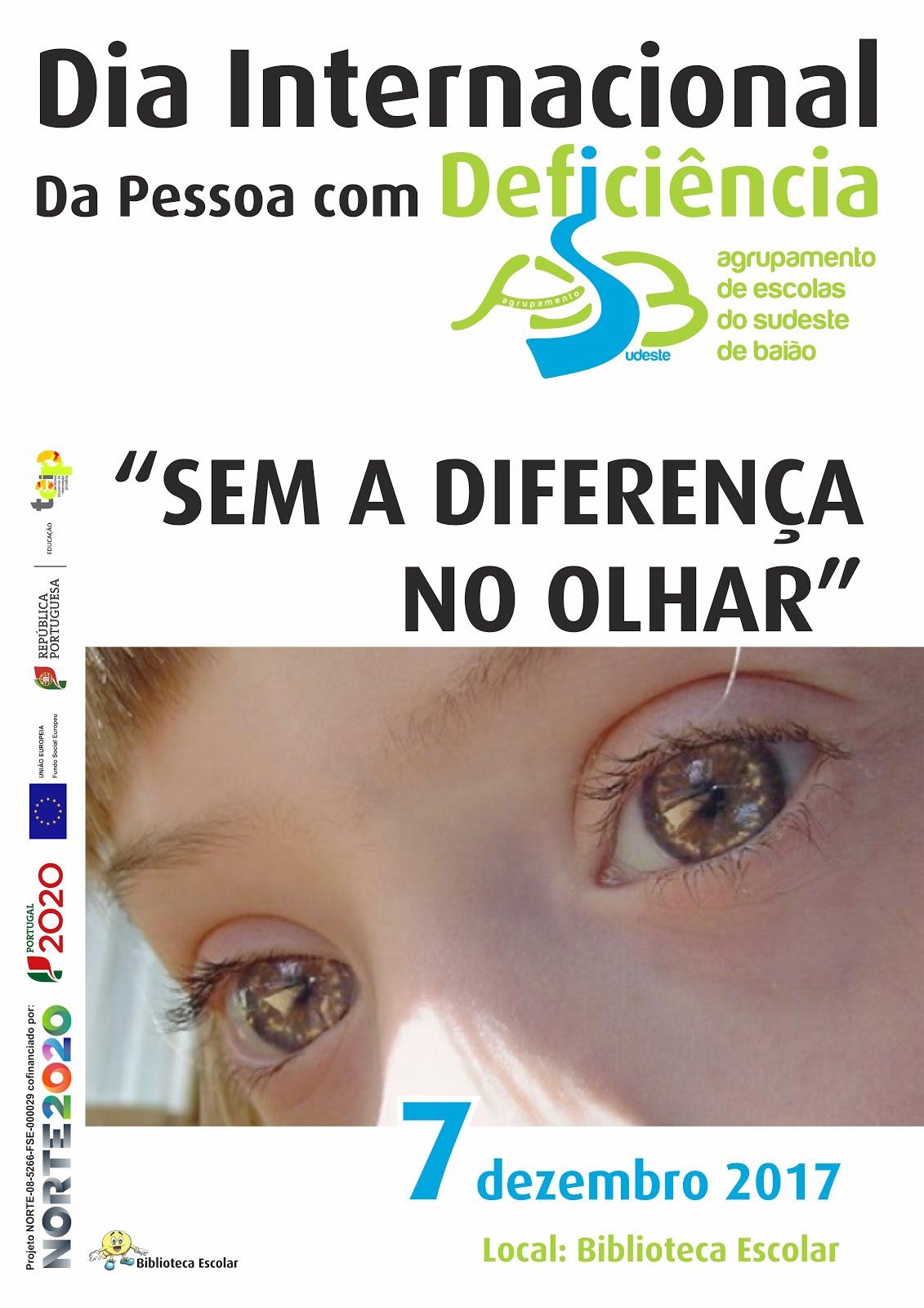 """Cartaz - Comemoração do """"Dia Internacional da Pessoa com Deficiência"""" - 7/12/2017"""