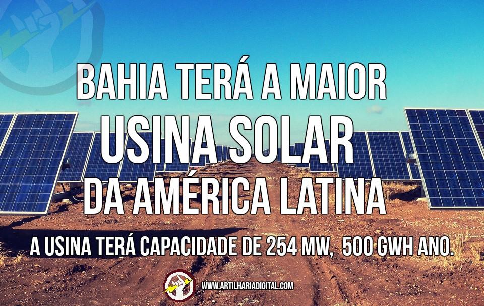 Bahia terá a maior usina solar da América Latina.