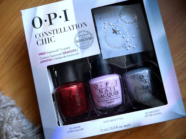 OPI Constellation Chic - An Affair in Red Sqaure, Mod About You, By the Light of the Moon