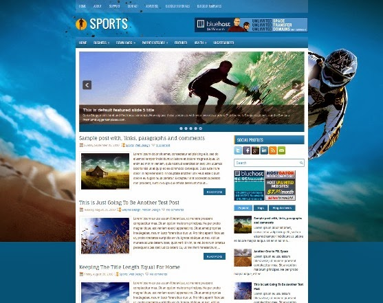 Sports Blogger Template