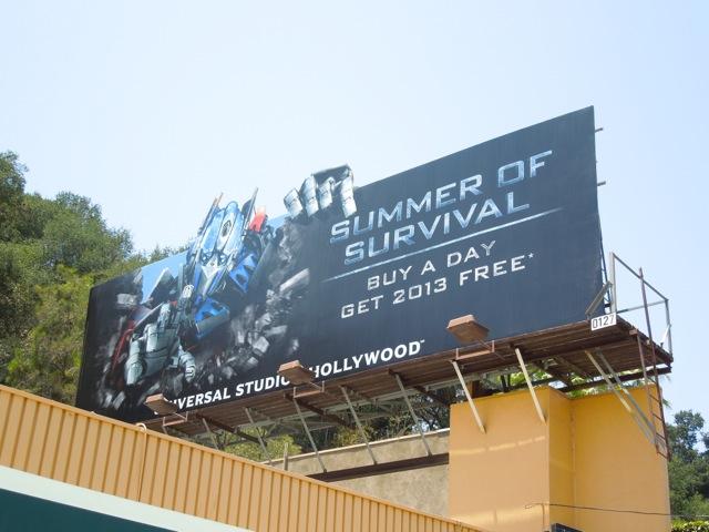 optimus prime Universal Studios billboard