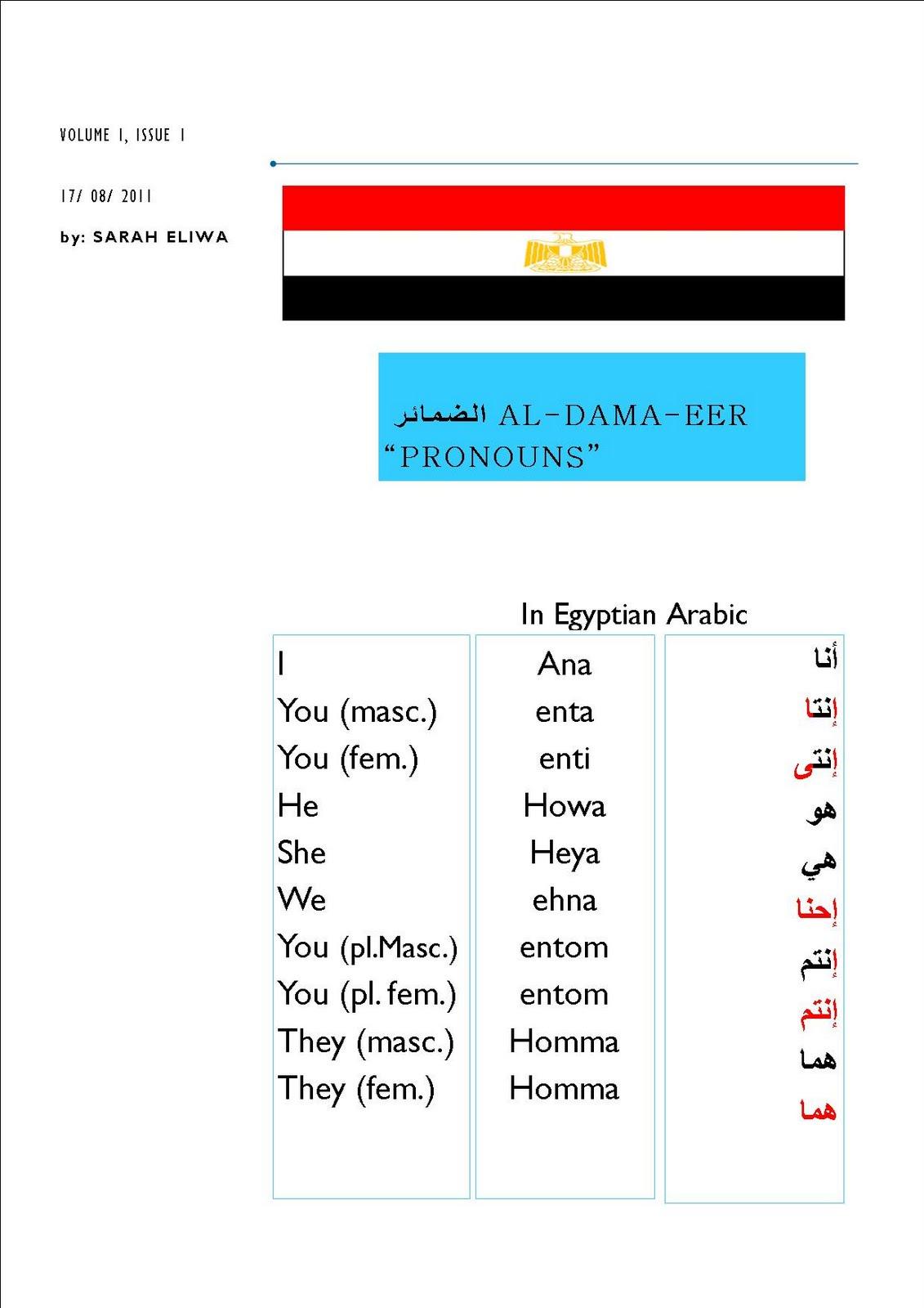 Learn egyptian arabic in london