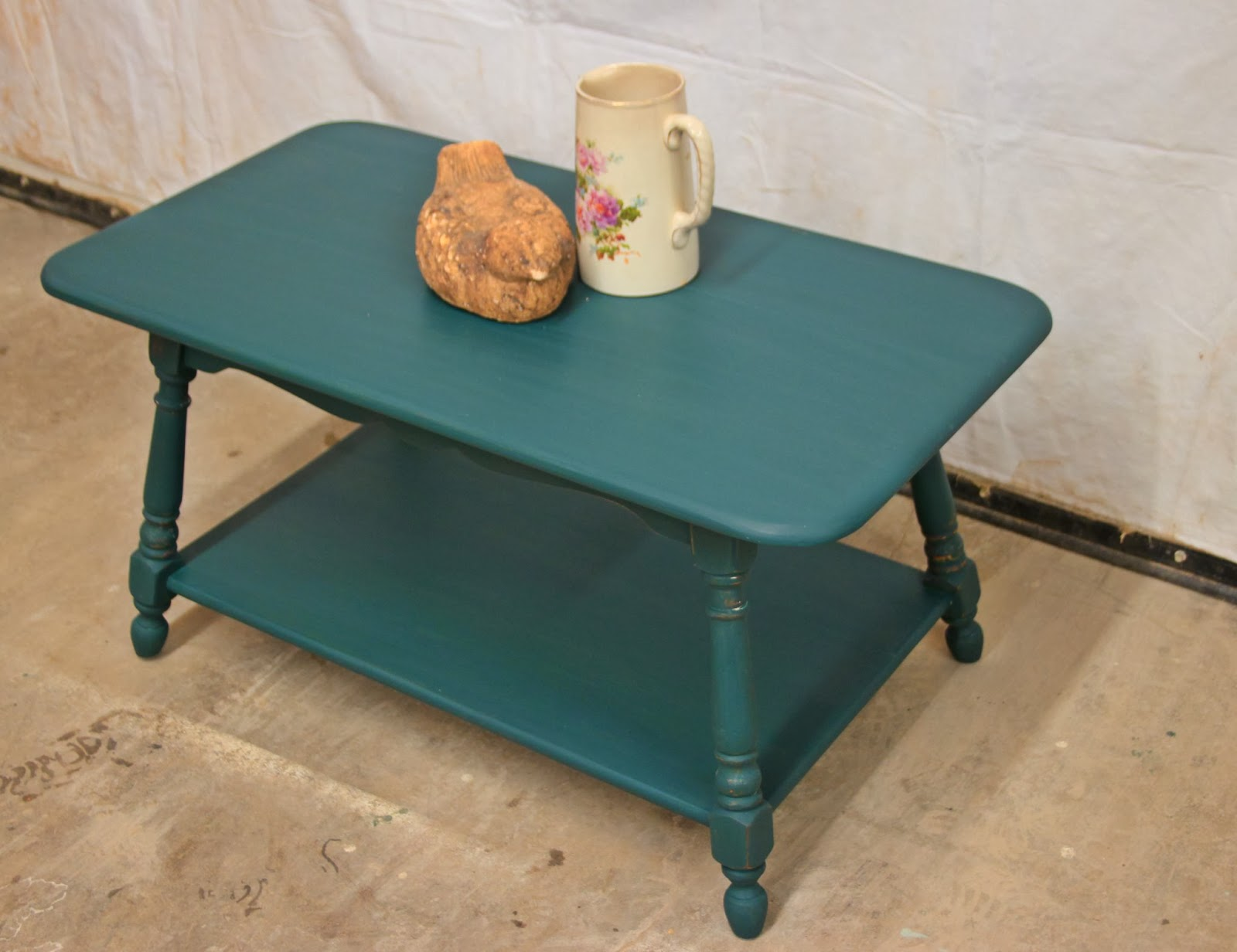 Laurel s Attic Dark Teal Coffee Table SOLD