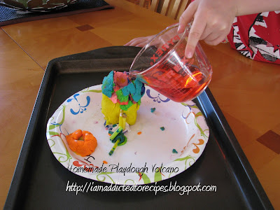 Playdough Volcano | Addicted to Recipes