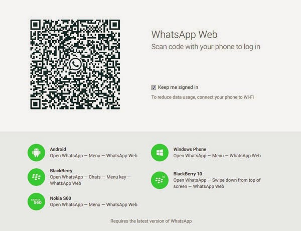 WhatsApp Web client launched, available for Android, BlackBerry, Symbian (S60) and Windows Phone